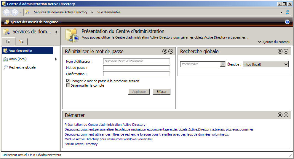 Centre d'Administration Active Directory