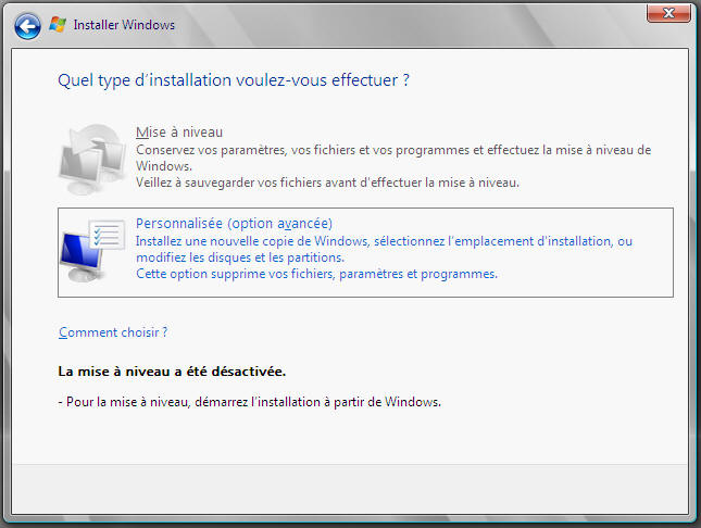 Windows Server 2008 - type installation